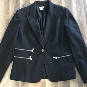 Michael Kors Black Silver Zip Coat/Blazer 12